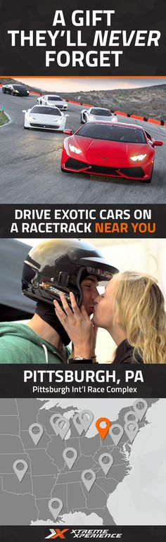 Give the perfect gift that they'll never forget! Driving a Ferrari, Lamborghini, or other exotic sports car on a racetrack is a unique gift idea that is guaranteed to leave a smile on his face, a good story to tell and a life-long memory. Xtreme Xperience brings the thrill of a lifetime to Pittsburgh International Race Complex from April 8-10, June 10-12 & October 7-9, 2016. Reserve your Supercar Xperience today starting at $199. Space limited!