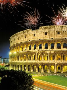 Nouvel an à Rome, Italie .....New Year's Eve in Rome, Italy...Happy New Year! Onde eu gostaria de estar!