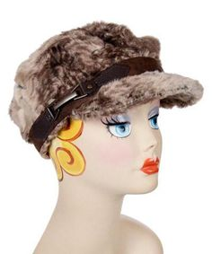 fd2341b205a Valerie Cap Style - Luxury Faux Fur in Fawn