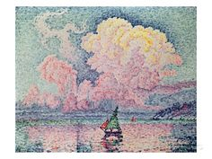 Antibes, the Pink Cloud Giclee Print by Paul Signac at AllPosters.com