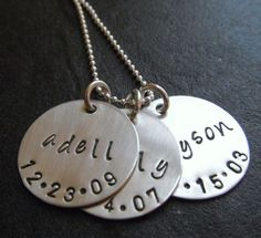 Personalized Childrens Name Necklace  Hand by JessicaMaiaDesigns, $40.00