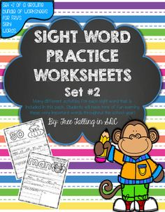 Sight words are such an important part of everyday for your kiddos. If your class is like mine, everybody is has different abilities and needs to learn. In addition to my ice cream scoop sight words and interactive practice books, I use these worksheets to help students who are still struggling.
