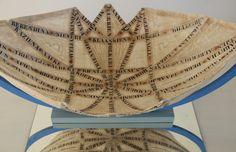 schaalobject van Lokta, met Groningernamen. detail, www.riavankrieken.nl