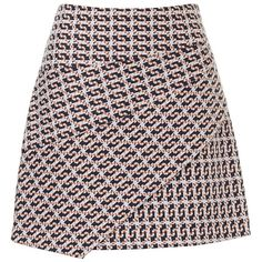 GEO JACQUARD WRAP MINI SKIRT ($20) ❤ liked on Polyvore featuring skirts, mini skirts, bottoms, short mini skirts, zipper skirt, textured skirt, wrap skirt and jacquard mini skirt