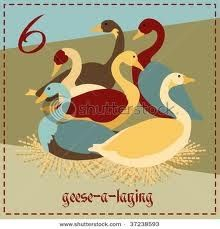 On the Sixth day of Christmas My true love gave to me Six Geese a laying Not sure what one would do with 6 geese. Christmas Graphics, Christmas Images, Christmas Projects, Christmas Ornaments, Twelve Days Of Christmas, All Things Christmas, Coloring Books, Coloring Pages, Lincoln Birthday