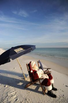 Beach Santa, papai noel na praia. papai noel