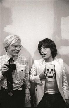 Buy this Andy Warhol and Mick Jagger print today at Morrison Hotel Gallery. Warhol poses with with a camera while Mick Jagger holds a skull replica. Pop Art, Louise Brooks, Disco Party, Art Marilyn Monroe, Foto Poster, Foto Casual, Foto Real, Portraits, Arte Pop