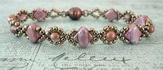 Linda's Crafty Inspirations: Bracelet of the Day: Cindy Bracelet - Alabaster Vega