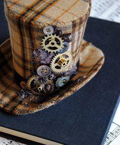 Steampunk Mini chapeau haut de forme avec des par BizarreNoir
