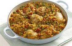 Arroz con Pollo- chicken and rice dish from Latin America