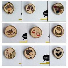 Depeapa: broches y colgantes de madera!   Minitangerine