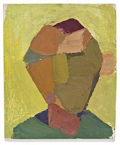 Maria Lassnig - Kopf (Head), 1956