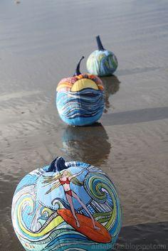 Beach painted pumpkins! LOVE. IMG_3019 by mealisab, via Flickr