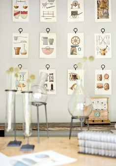 never thought about hanging art like this...kind of neat!