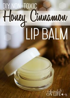 This homemade Honey & Cinnamon Lip Balm makes an easy gift.This homemade Honey & Cinnamon Lip Balm makes an easy gift. With only a few, non-toxic, ingredients, you'll be surprised at how easy it is to whip up. Homemade Lip Balm, Diy Lip Balm, Homemade Soaps, Diy Lip Scrub, Homemade Shampoo Recipes, Homemade Body Wash, Homemade Eye Cream, Homemade Deodorant, Homemade Vanilla