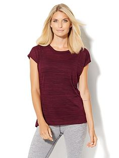 Shop Lounge - Open-Back Hi-Lo Tee . Find your perfect size online at the best price at New York & Company.