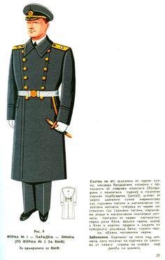 Bulgarian People's Navy admirals' winter parade dress uniform.