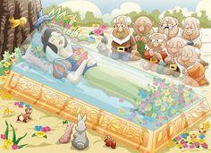 DESENHOS XANDI: Branca de Neve em seu sono eterno!