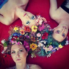 Flowerhair girls shot
