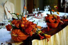 Aranjament nunta tematica de toamna in bostani dovleac La Castel Iasi