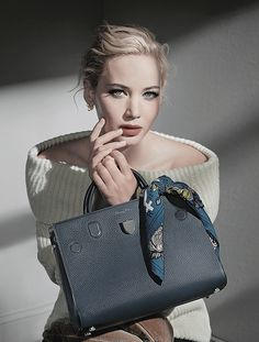 Jennifer Lawrence by Patrick Demarchelier for Dior's F/W 2016 handbag campaign.