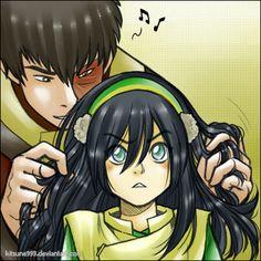 Toko - Hair playing. by kitsune999 on deviantART