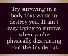 Physically destructing from the inside out.