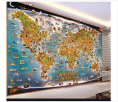 Custom 3d photo wallpaper kids room mural animal world map 3d photo high quality hot sale new custom 3d photo wallpaper murals stereoscopic 3d animal world map background wall decor room wallpaper 1352 buyonline gumiabroncs Image collections
