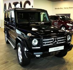 Ahh my dream car. A Mercedes Benz G-Class. Isn't she beautiful? I love the all black, I feel like it sets a statement of boldness. I love it!