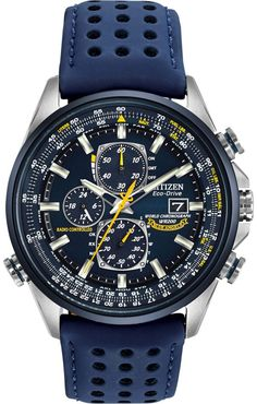 Today, I'm sharing about this amazing watch called Citizen Blue Angels World Chronograph. That's right, this is a watch that uses the Blue Angels Navy Flight Squadron as its basis for design. But what's more impressive is the high amount of functions in it. Radio controlled atomic timekeeping, world time, chronograph, perpetual calendar, slide rule bezel, day date window, and last but not least, Citizen's Eco-Drive solar powered watch. Read this review of this Blue Angels watch to know more