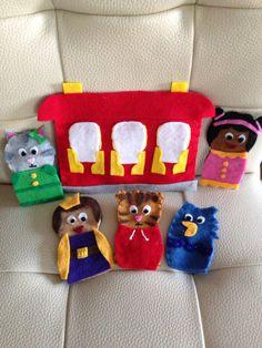 Daniel Tiger finger puppets!