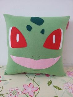 Shop for pokemon on Etsy, the place to express your creativity through the buying and selling of handmade and vintage goods. Pokemon Craft, Pokemon Party, Pokemon Birthday, Felt Pillow, Plush Pillow, Craft Projects, Sewing Projects, Anime Crafts, Pokemon Bulbasaur