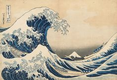 神奈川沖浪裏(1831〜35年/『冨嶽三十六景』より) 葛飾北斎 70〜74歳ごろ おそらく歴史上もっとも有名な日本画。海外では「グレートウェーブ」という名称で愛されています。葛飾北斎が遺した数多くの傑作のひとつです。