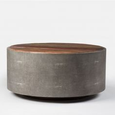 The Crosby Round Coffee Table Features Gorgeous Reclaimed Woods And A Unique Grey Perimeter Tables