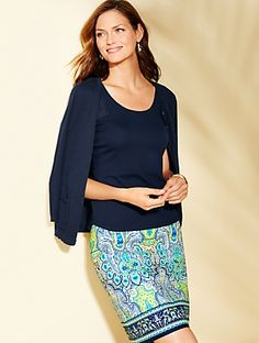 Talbots - Print A-Line Skirt - Mykonos Paisley | | Misses Discover your new look at Talbots. Shop our Print A-Line Skirt - Mykonos Paisley for stylish clothing and accessories with a modern twist at Talbots