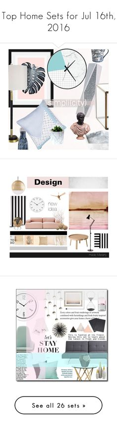 """""""Top Home Sets for Jul 16th, 2016"""" by polyvore ❤ liked on Polyvore featuring interior, interiors, interior design, home, home decor, interior decorating, S'well, Universal Lighting and Decor, Simple Life and Crate and Barrel"""