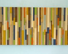 Hout kunst aan de muur Wandsculptuur Modern door ArtGlamourSligo