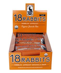 Take a look at this Nibblin' Apricot Bar - Set of 12 by 18 Rabbits on #zulily today!