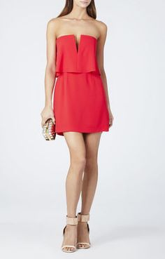 Possible semi dress!  Kate Strapless Ruched-Skirt Dress