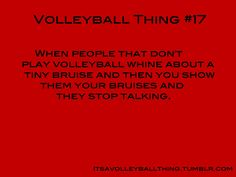 it's a volleyball thing - hah. if only they knew...