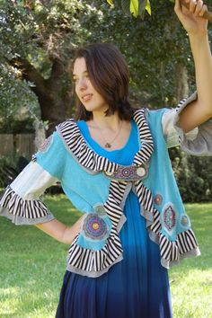 Embroidered & Appliqued Altered Couture Boho Gypsy by ProudGypsy, $175.00
