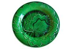 Vintqge Wedgwood Green Majolica Plate on OneKingsLane.com, $149 !!