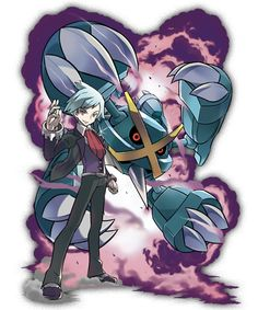 Champion Steven and his Mega Metagross from Pokemon Omega Ruby and Alpha Sapphire