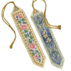 Amazon.com: Dimensions Needlecrafts Counted Cross Stitch, Elegant Bookmarks: Arts, Crafts & Sewing