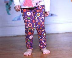 SALE Purple Polka Dots Leggings Pants Dots Multi by MyLittleAura