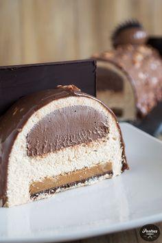 Hazelnut and Chocolate Cake - chocolate - Pastel de Tortilla Fancy Desserts, Köstliche Desserts, Fancy Cakes, Sweets Recipes, Delicious Desserts, Chocolate Hazelnut, Chocolate Cake, Dessert Decoration, Mousse Cake