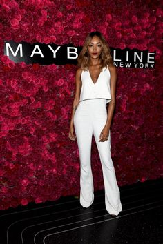 Pin for Later: Die Stars machen die New York Fashion Week noch modischer Jourdan Dunn bei einem Event von Maybelline