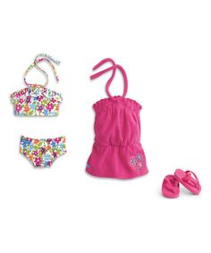 AMERICAN GIRL Floral Swim Outfit for 18'' Doll #zulilyfinds