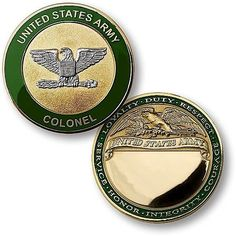 U.S. Army Colonel Engravable Rank Coin