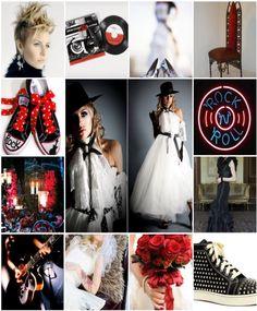 Rock star bridal inspiration  edgy wedding style